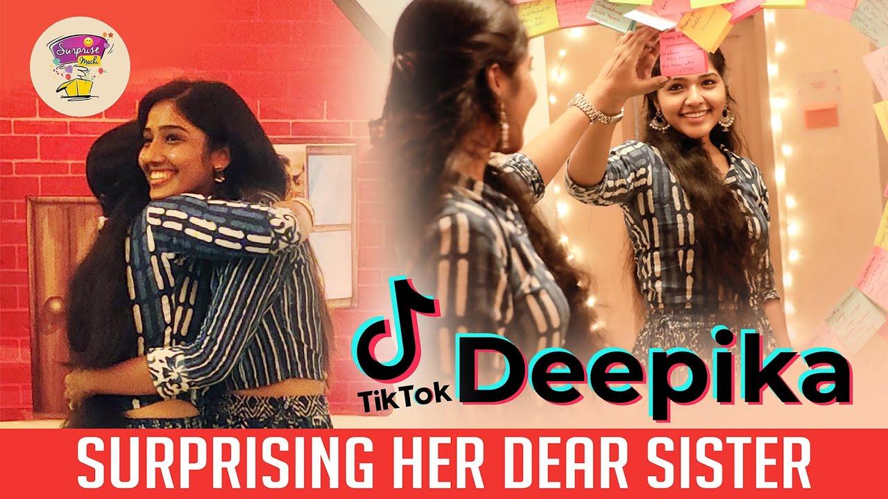 #Tiktok Deepika surprising her lovely sister   best birthday surprise   Surprise Machi