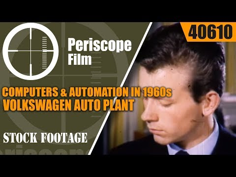 COMPUTERS & AUTOMATION IN 1960s USA  COMPUTERIZED VOLKSWAGEN AUTO ASSEMBLY LINE 40610