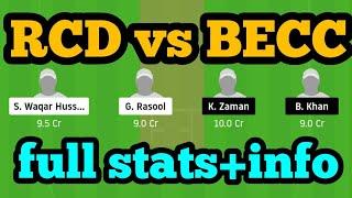 RCD vs BECC Dream11  RCD vs BECC   RCD vs BECC Dream11 Team 