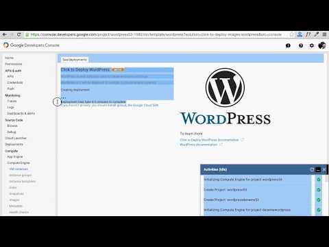 Google Cloud WordPress Kurulumu