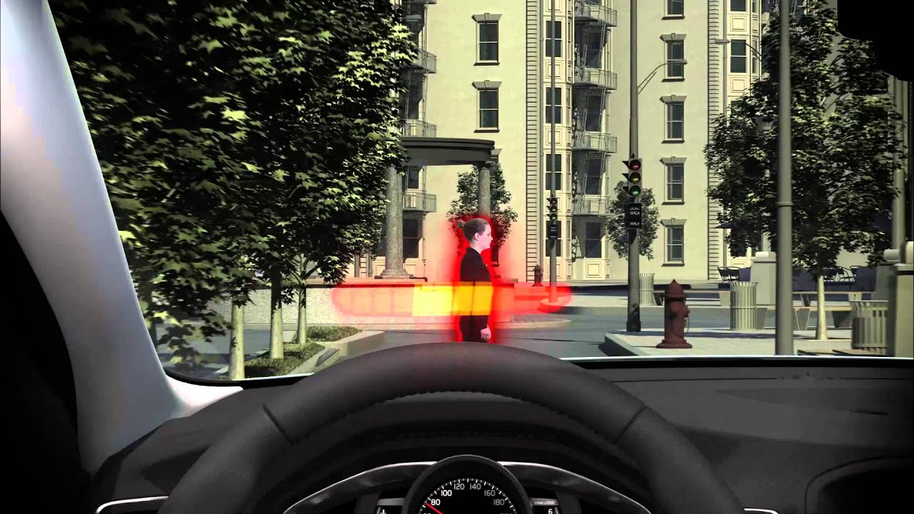 Volvo Pedestrian Detection Overview - YouTube