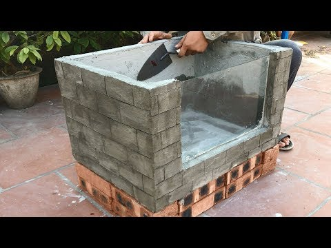 Amazing Ideas With Cement !😍! Make An Aquarium With A Simple Foam And Cement Box