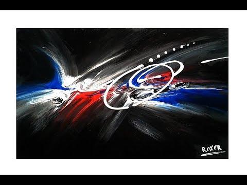 """Abstract Acrylic Painting - Original Art - """"Big Bang By Roxer Vidal"""""""