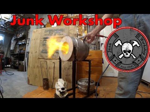 2/2 Diy Blacksmithing Tilting Metal gas Forge Furnace Forgia fonderia Fornace da fabbro fai da te