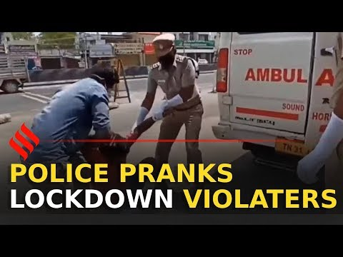 Tamil Nadu Police Plays Prank on Lockdown Violaters | Police