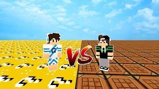 MUNDO DE LUCKY BLOCK VS MUNDO DE CRAFTING TABLE no MINECRAFT !! (QUAL É MELHOR?)