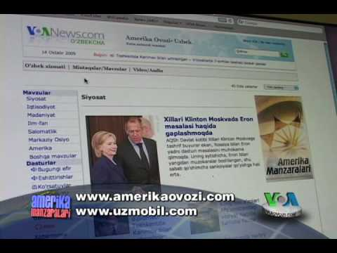 Amerika Ovozi TV internet va radio reklama - VOA Uzbek web and radio promo