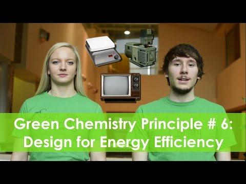Design for Energy Efficiency - Green Chemistry Principle #6