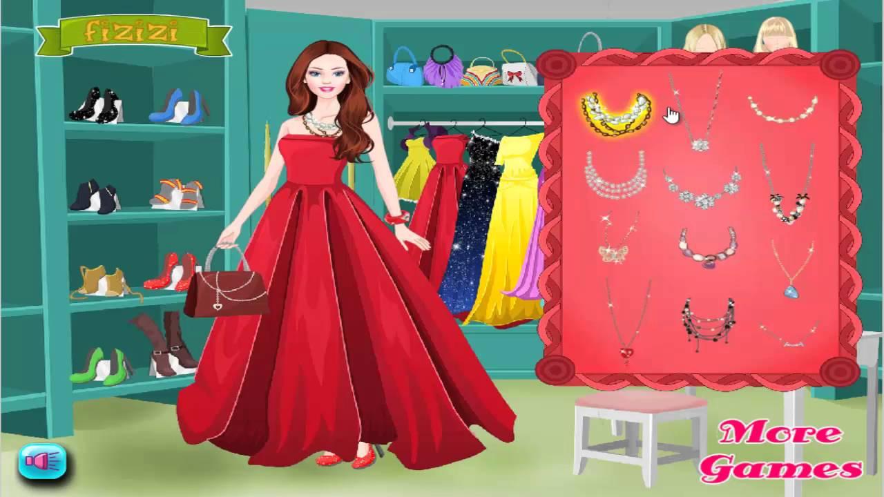 Barbie Prom Dress - Barbie Dress up games for girls - YouTube