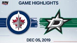 NHL Highlights   Jets vs. Stars - Dec. 05, 2019