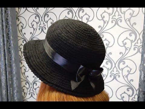 Теплая шляпа крючком видео уроки