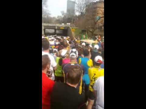 Boston Marathon 2013   First of Those Stopped at Mile 25 9   Seconds After the Explosions