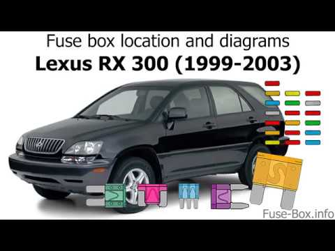 fuse box location and diagrams: lexus rx300 (1999-2003)