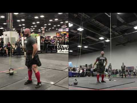 2018 Arnold Sports Festival Highland Games - 56 lb. Weight for Height