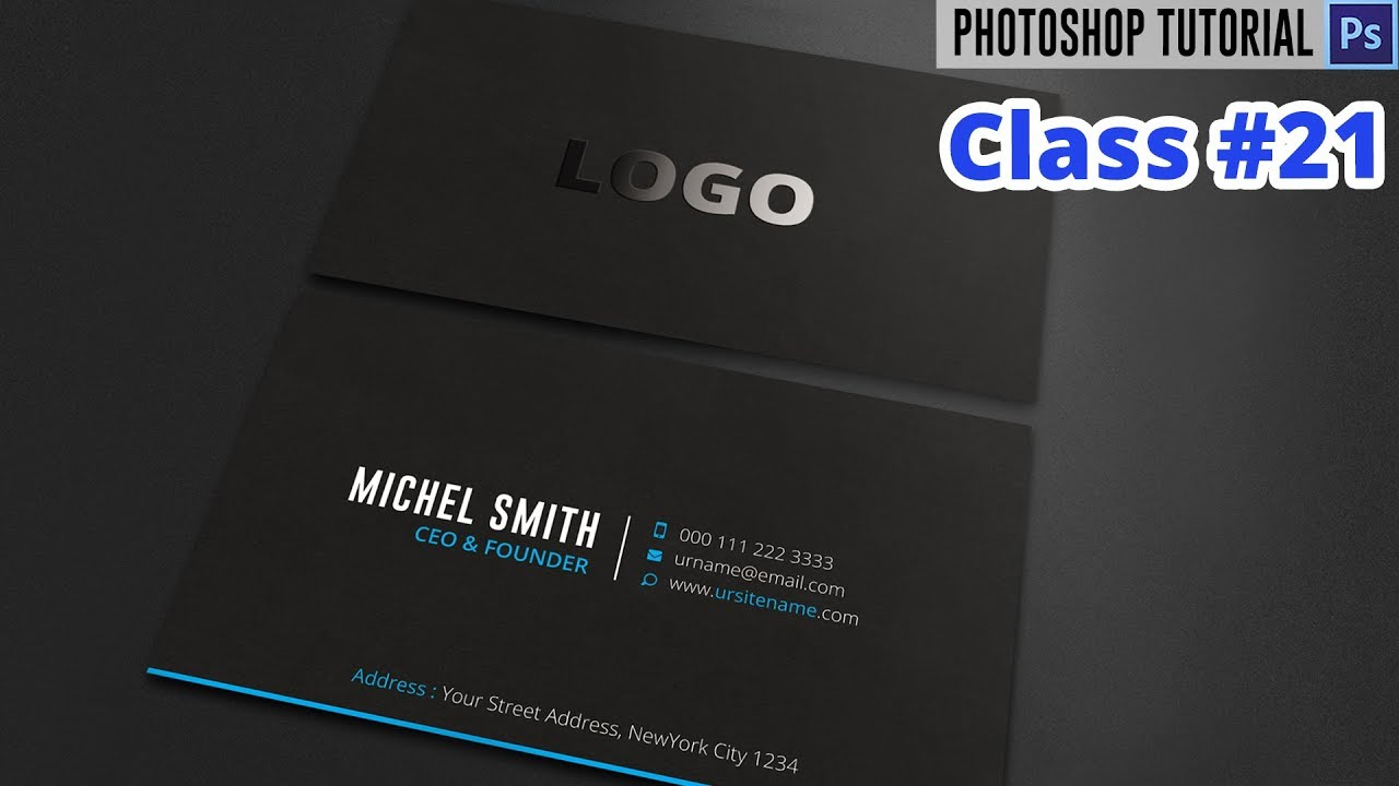 How to Make Spot UV Business Card Design in Photoshop | Class #21 ...