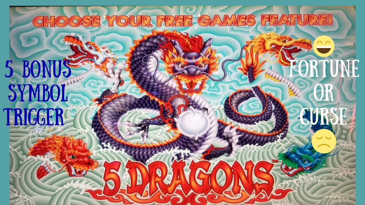 5 DRAGONS SLOT MACHINE BONUS - 5 BONUS SYMBOL FORTUNE or CURSE? by  Aristocrat