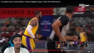 FlightReacts Los Angeles Lakers vs Toronto Raptors - Full Game Highlights | August 1, 2020!