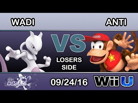 2GGT: Abadango Saga - SS | Wadi (Mewtwo) Vs. IMT | ANTi (Diddy Kong) Losers Side - Smash Wii U
