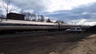 Amtrak Police salute Train 55 in Holyoke