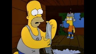 I Simpson ITA - Homer cacciato di casa - Mangia il budino, mangia il budino