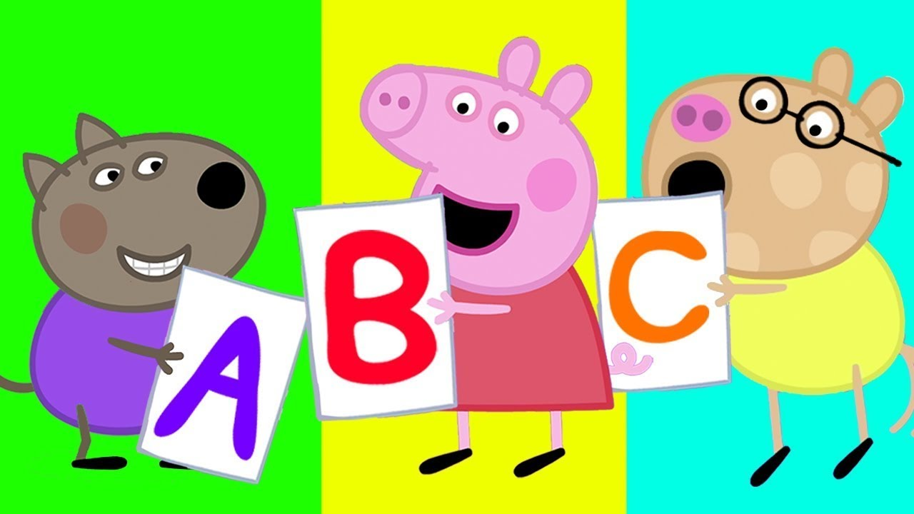 Abc Song Learning Alphabet For Children Peppa Pig Songs Nursery Rhymes Kids Songs Youtube