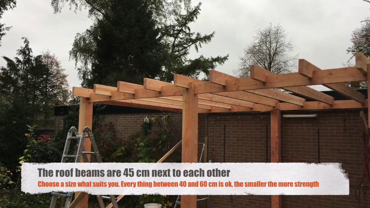 how do they do that build a patio roof cover with douglas wood part 1