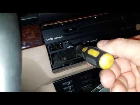 Как снять магнитолу на BMW E-39