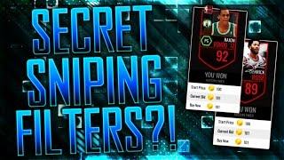 SECRET SNIPING FILTERS! BEST FILTERS IN NBA LIVE MOBILE!