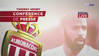 Social Live spécial conférence de presse Thierry Henry, AS Monaco