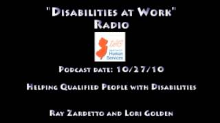 Disabilities at Work Radio - Helping Qualified People with Disabilities Gain Employment