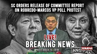 BREAKING NEWS: SC ORDERS RELEASE OF COMMITTEE REPORT ON ROBREDO-MARCOS POLL PROTEST