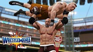 Video WWE 2K17 Wrestlemania 33 - Goldberg vs Brock Lesnar WWE Universal Championship Match! download MP3, 3GP, MP4, WEBM, AVI, FLV Maret 2017