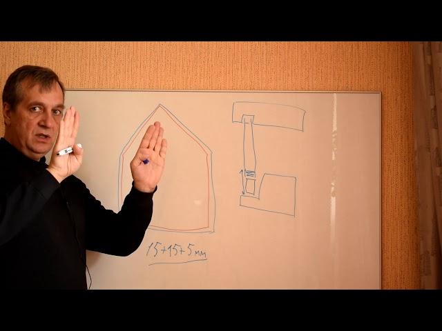 Узлы крепления фигурных стеклопакетов в фахверковом доме