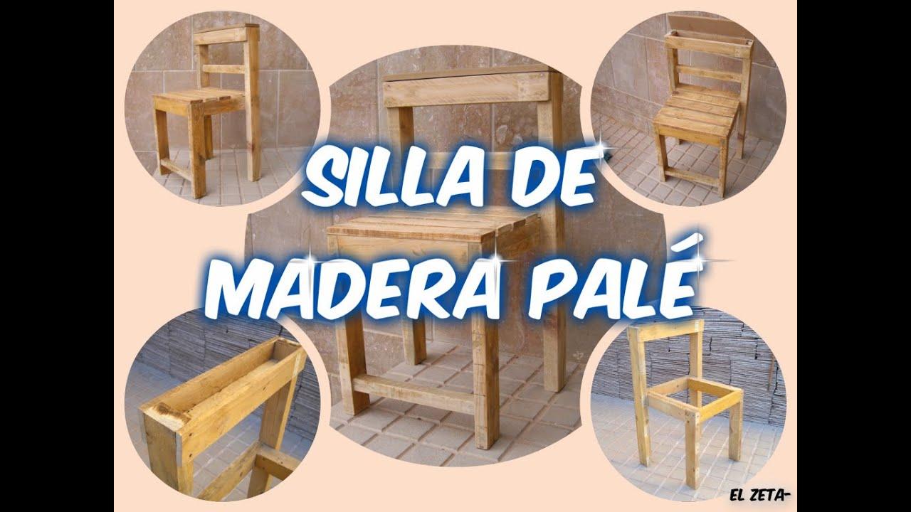 C mo hacer una silla de madera con un pal youtube for Como hacer sillas de madera para comedor