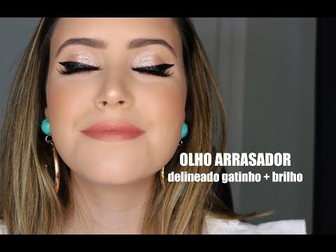 OLHO ARRASADOR - DELINEADO GATINHO E MUITO BRILHO