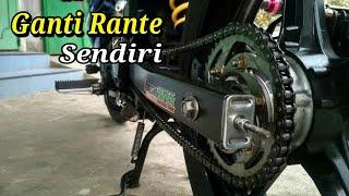 Cara Ganti Rante Motor Sendiri - Alat Seadanya || Yamaha Mx King