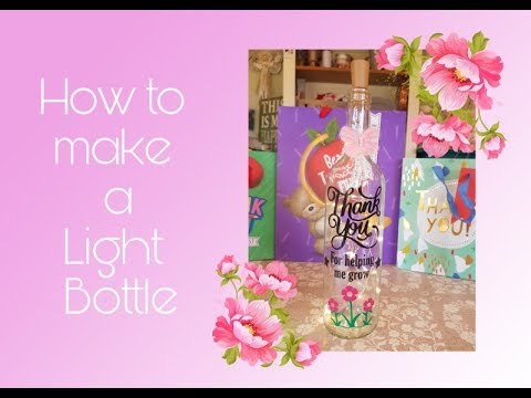 How to Make a Personalised Light Up Bottle