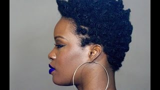 Bantu Knot Out on Tapered TWA Tutorial (4C)