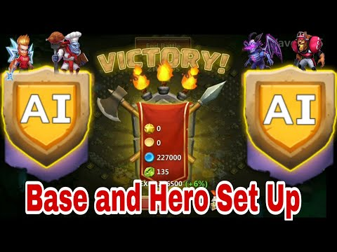 HBM - Ai | Victory | Base Set Up | Lucky Win | Castle Clash