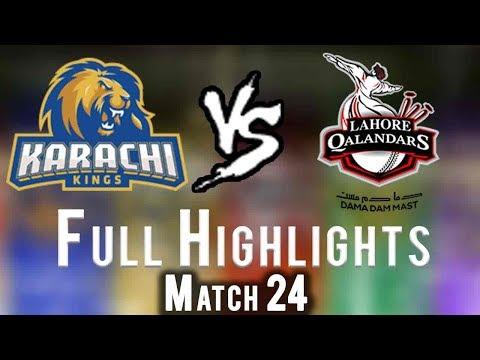 Full Highlights   Lahore Qalandars Vs Karachi Kings    Match 24   11 March   HBL PSL 2018 thumbnail