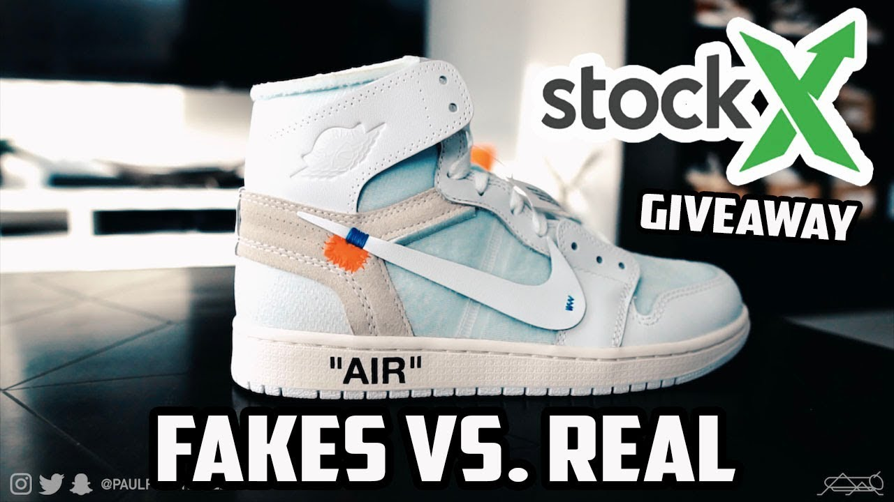 3719f9ab23a347 MOST EXPENSIVE REPLICAS VS REAL! GIVEAWAY! (STOCKX Air Jordan 1 x OFF WHITE)