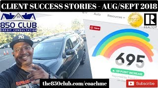 Its All About Helping People - Client Success Stories Aug/Sept 2018 - 850 Club Credit Consultation