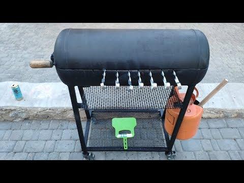 Крутая идея! Мангал из газового баллона DIY   - часть 1