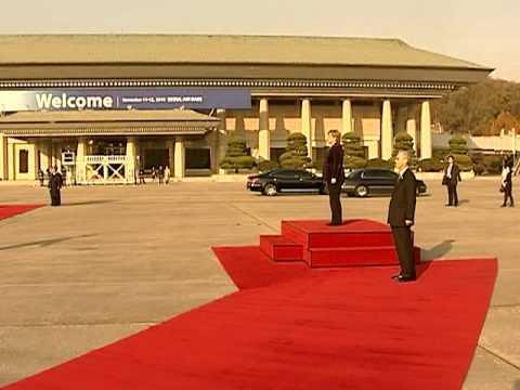 Chancellor of Germany Angela Merkel Seoul arrival