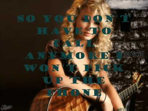 You're not sorry (CSI Remix)~ Taylor swift lyrics