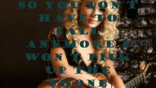 Your not sorry (CSI Remix)~ Taylor swift lyrics