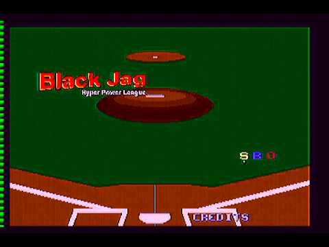 Black Jag Hyper Power League Baseball Atari Jaguar 480p Hd Rgb