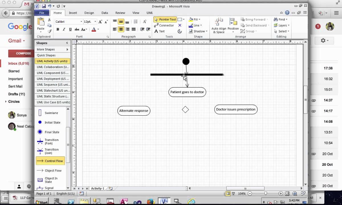 Create Activity Diagram in Microsoft Visio  YouTube