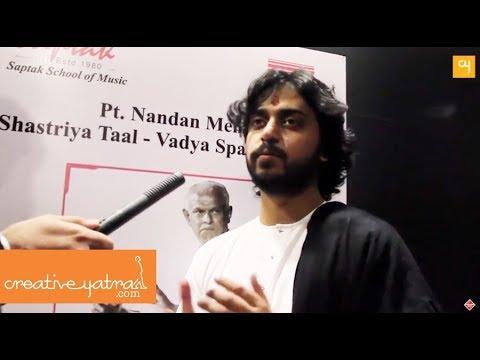 Shri Abhishek Mishra Interview at Saptak 2018 I www.creativeyatra.com