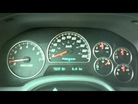 2005 stock Envoy XL SLT 0 - 90 MPH run #1